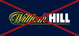 logo bukmachera williamhill przekreślone czerwonym krzyżem