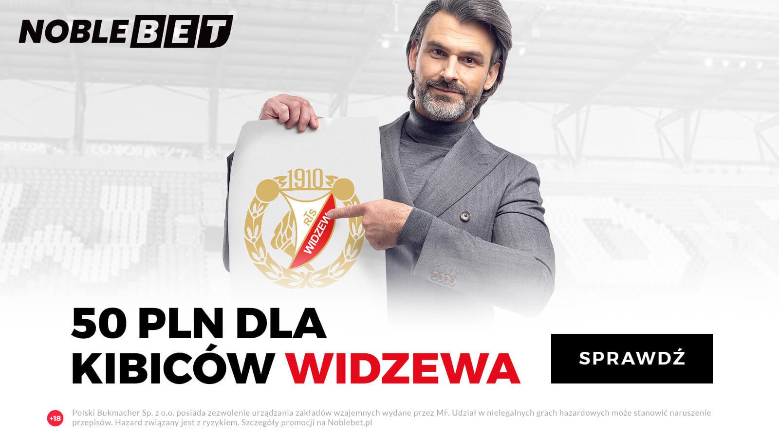 Dodatkowy bonus NOBLEBET dla kibiców Widzewa Łódź
